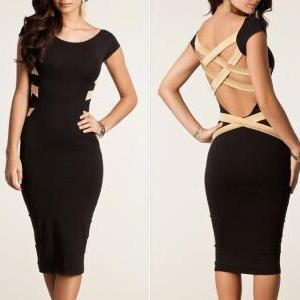 Summer Dress Fashion Black Party E..