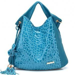 Free Shipping Blue Genuine Leather ..
