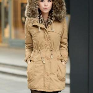 Womens Winter Coats Faux Fur Lining..