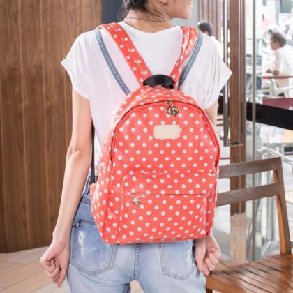 Cute Dot Watermelon Backpack - Wate..