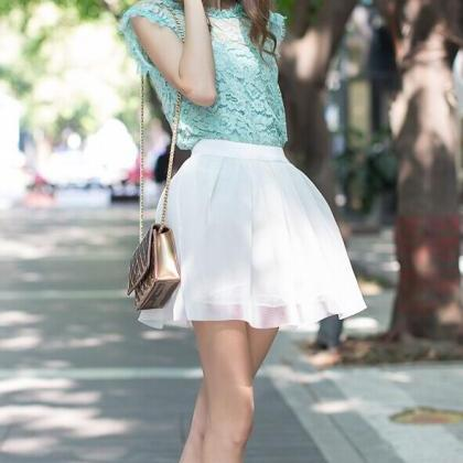 Fashion Hollow Jacket + Skirt (Two-..