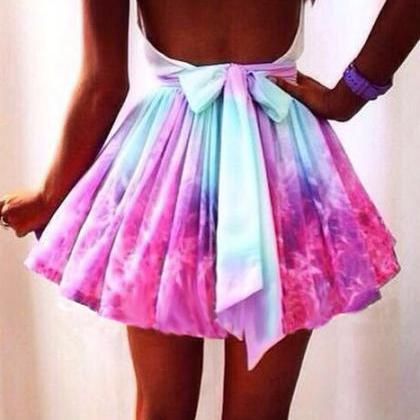 Fashion Irregular Galaxies Skirt