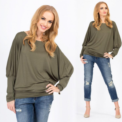 Sexy Bat Sleeve Loose T-Shirts 3625..