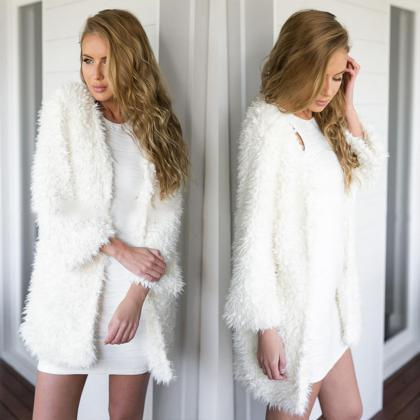 Sexy Womens Fluffy Shaggy Faux Fur ..