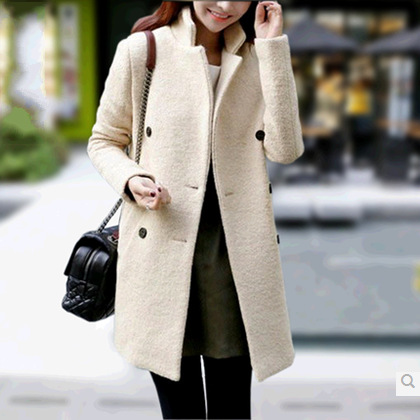 Slim Double-Breasted Wool Coat Wool..