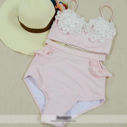 Retro High Waist Bikini Ht625Fb
