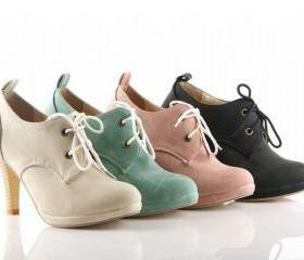 Adorable Faux Suede Lace-Up 3 Inch Pumps Sizes 4-12 (4 Colors)