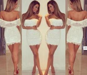 New Hot Lady Summer Bandage BodyCon Lace Evening Sexy Party Cocktail Dress