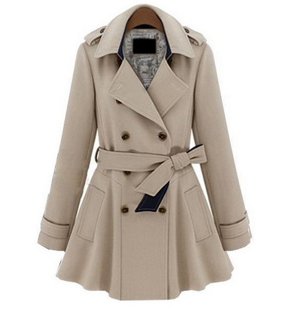 Plus Coats Women Jackets Slim Blue Beige Fashion Coat S M L Xl on