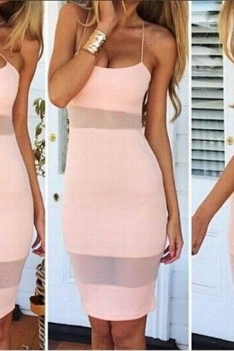 Stitching Bandage Dress Sexy Temptation Dress Pp0110Bc