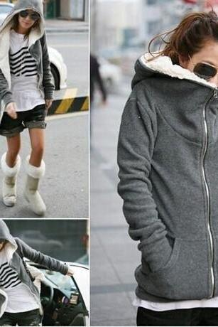Thick Warm Hooded Sweater Zz1024Bd