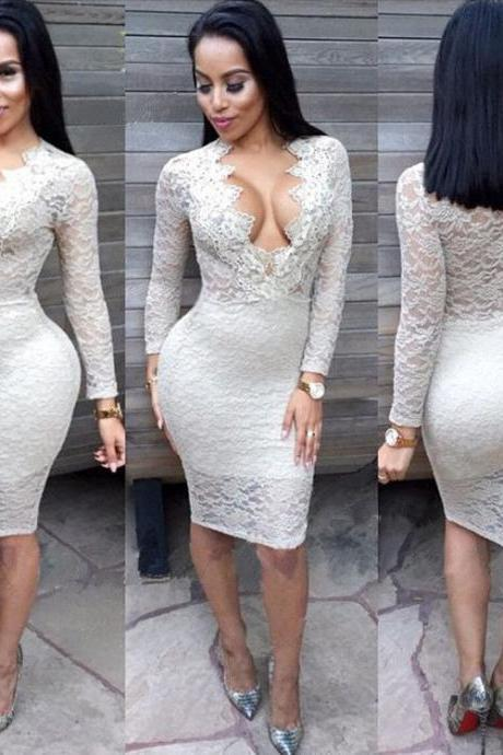 Lady Women Long Sleeve Bandage Bodycon Evening Party Cocktail Long Maxi Dress