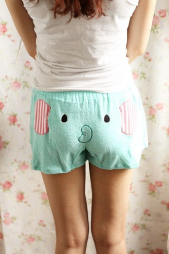 Cute Elephant Pattern Shorts For Women