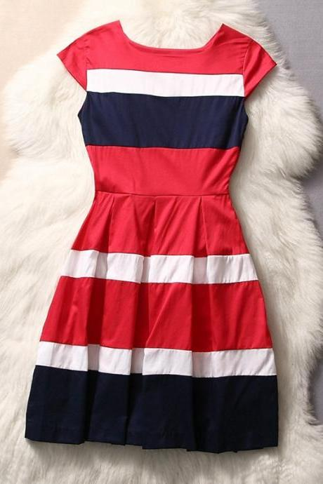 Striped Fashion Dress Gg731F