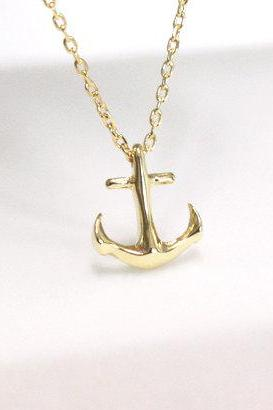 Tiny Anchor Necklace Dainty Jewelry