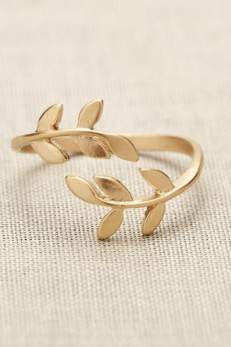 Bay Leaf Ring In Gold Only