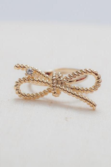 Twist Bow Adjustable Ring
