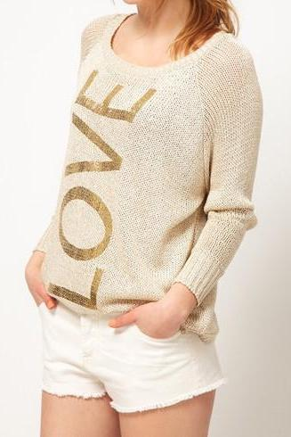 Woman Long Sleeve Knitting Wool Hot Sale Pullovers