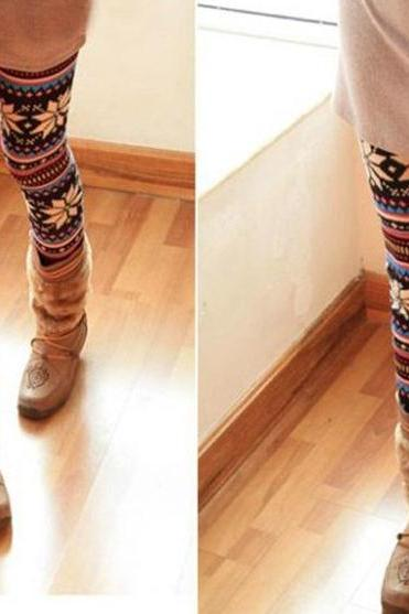 Flower Fashion Totem Leggings