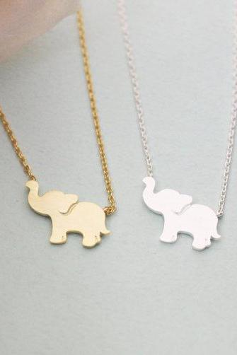 Personalized Initial Elephant Necklace Initial Jewelry Elephant Jewelry