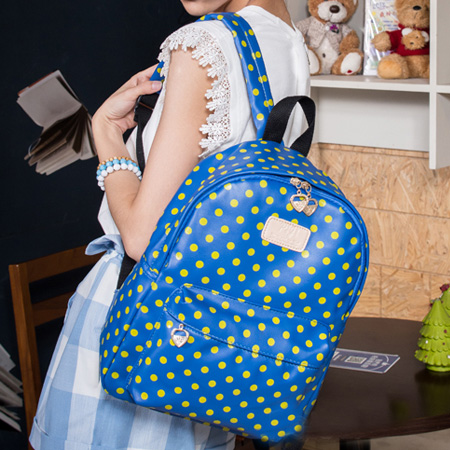 Cute Dot Watermelon Backpack - Blue