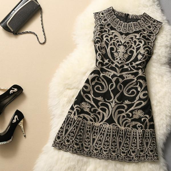 Fashion Embroidered Dress GG731A