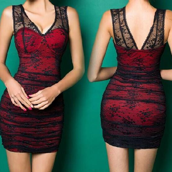 Package Hip Sexy Lace Dress MX61239