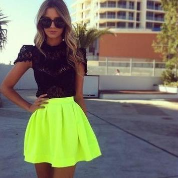 Candy Colored High-waisted Skirts