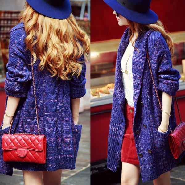 Loose Large Size Sweater Coat Bv1015Bh