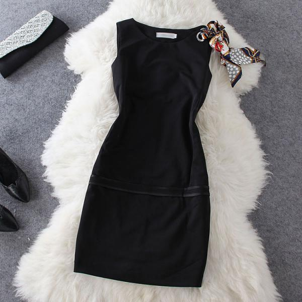 Ribbon Sleeveless Dress Gg731Ff