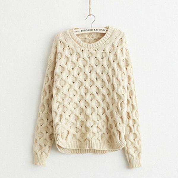 Rhombic Long-Sleeved Pullover